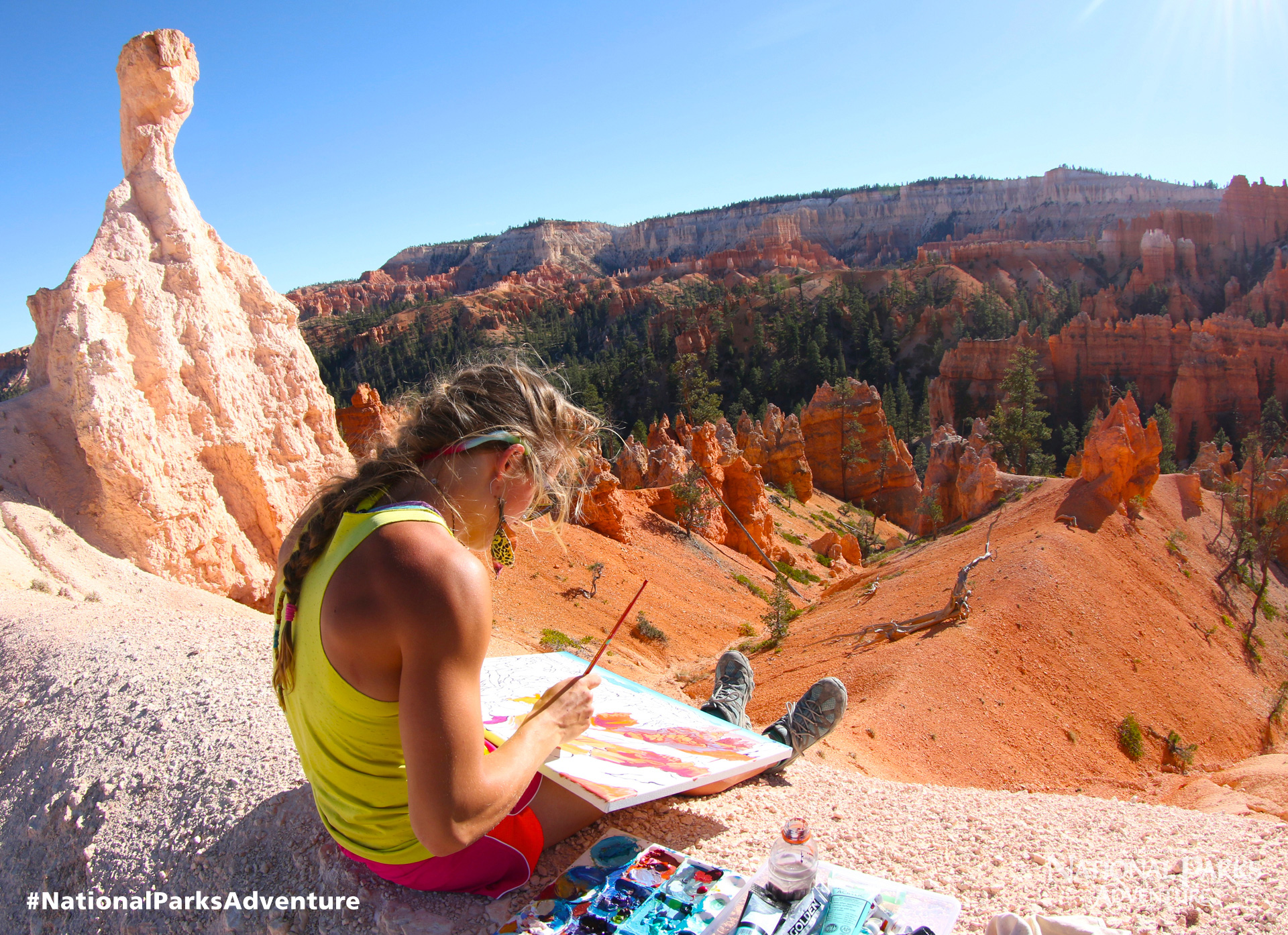 Painting in Bryce Canyon National Park