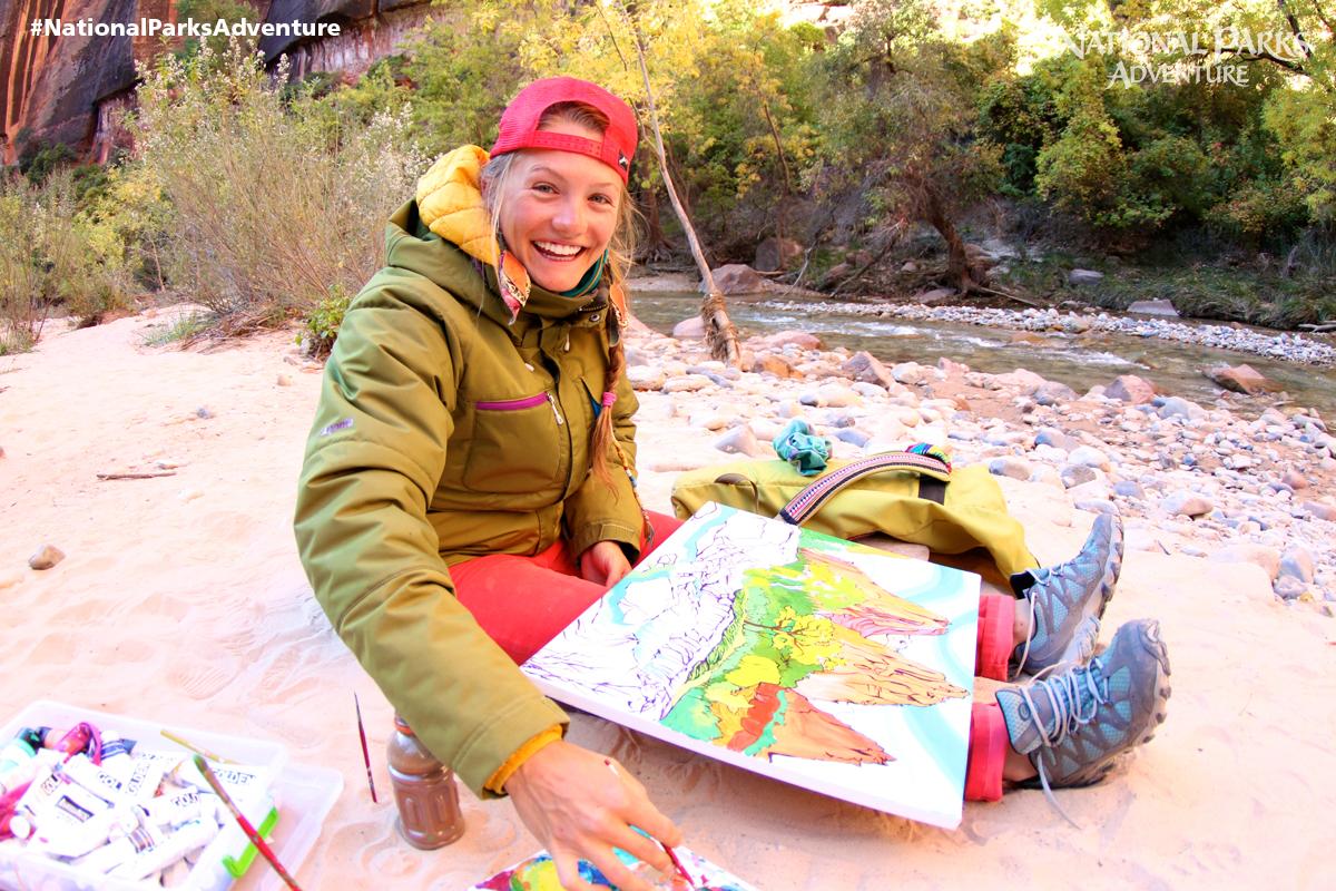 Rachel Painting in Zion