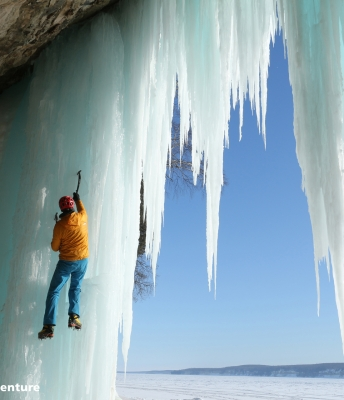 Ice Climbing in Pictured Rocks National Lakeshore