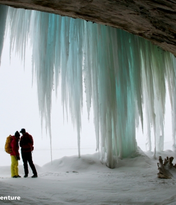 Frozen Waterfall in Pictured Rocks National Lakeshore