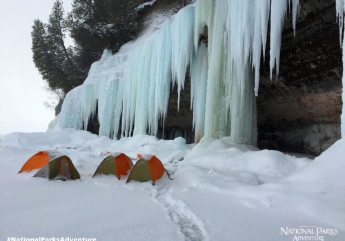 Snow Camping at Pictured Rocks National Lakeshore