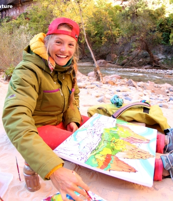 Rachel Painting in Zion